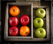 Fresh Food Framed Prints - Apples Framed Print by Edward Fielding