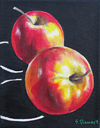 Healthy Eating Paintings - Apples I by Sheila Diemert