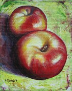 Sheila Diemert Metal Prints - Apples III Metal Print by Sheila Diemert