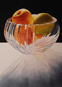 Apple Paintings - Apples in Backlight by Jean Yates