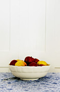 Table Cloth Metal Prints - Apples Metal Print by Margie Hurwich