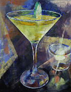 Cocktails Painting Prints - Appletini Print by Michael Creese