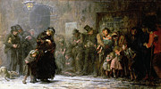 Applicants For Admission To A Casual Print by Sir Samuel Luke Fildes