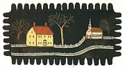 Maine Tapestries - Textiles - Applique Rug by Artist Unkown