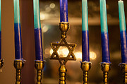 Hanukah Prints - Appointed Lights Print by Roger Reeves