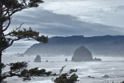 Haystack Rock Framed Prints - Approaching Storm Framed Print by Andrew Soundarajan
