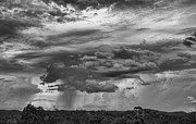 Approaching Prints - Approaching Storm Black and White Print by Douglas Barnard