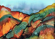 Alcohol Ink Posters - Approaching Storm Poster by Christine Crawford