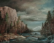 El Capitan Painting Prints - Approaching Storm Print by Liz Hume