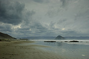 Terry Garvin Art - Approaching Storm - Morro Rock by Terry Garvin