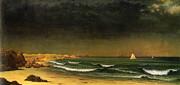 Approaching Storm Near Newport Beach Print by Martin Heade