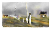 Storm Digital Art Prints - Approaching Storm Northwest Cape P.E.I Print by Bob Salo