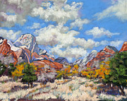 Zion National Park Pastels - Approaching Storm by Patricia Rose Ford