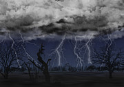Lightning Digital Art - Approaching Storm by Thomas OGrady
