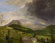 New England Village Art - Approaching Storm  White Mountains by Alvan Fisher