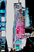 Midtown Digital Art Framed Prints - Approaching Times Square Framed Print by Teresa Mucha