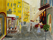 South Of France Painting Originals - Apres Midi dans le Vieux Nice by Rex Maurice Oppenheimer