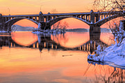 Wrightsville Prints - Apricot Susquehanna  Print by JC Findley