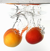 Healthy Eating Art - Apricots fruits underwater by Sami Sarkis