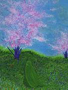 Tree Blossoms Paintings - April  by jrr by First Star Art