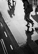 Rainy Street Photo Framed Prints - April rain Framed Print by Setsiri Silapasuwanchai