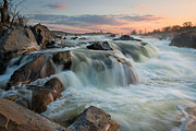 Gushing Water Framed Prints - April Sunrise - Great Falls Framed Print by Bernard Chen