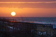 Orange Digital Art Originals - April Sunrise in Orange Beach by Michael Thomas