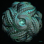 Abstract Movement Originals - Aqua Celtic Mandala by Michael Durst