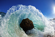 Ocean Waves Photos - Aqua Dome by Sean Davey