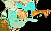 Live Music Prints - Aqua Jam Print by Chris Berry
