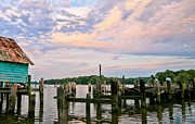 Pilings Photos - Aqua Marine by JC Findley