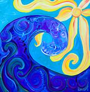 Aqua Sky Print by Beth Cooper