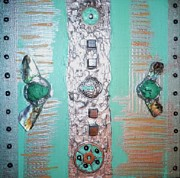 Silver Turquoise Mixed Media - Aqua Wings by Marie Aldrich