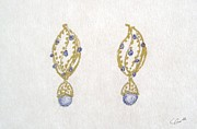 Mother Jewelry - Aquamarine Filigree Earrings by Christine Corretti
