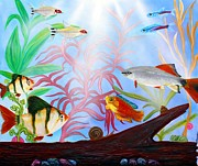 Barbs Prints - Aquarium Print by Laura Barbosa