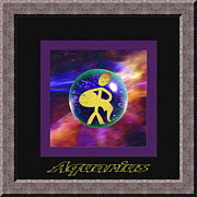 Signs Art - Aquarius ll by Daryl Macintyre