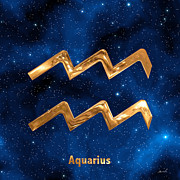Zodiac Sign Prints - Aquarius Print by Marsha Charlebois