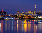 Kate Brown Metal Prints - Aquatic Park Blue Hour Metal Print by Kate Brown