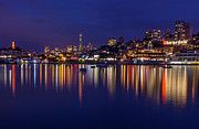 Kate Brown Metal Prints - Aquatic Park Blue Hour wide view Metal Print by Kate Brown