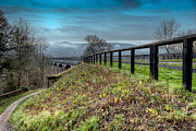 Walkway Digital Art Posters - Aqueduct at Pontcysyllte Poster by Adrian Evans