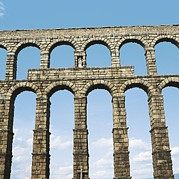 Photographies Prints - Aqueduct In Segovia. 1st C. Spain Print by Everett