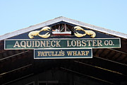 Lobster Sign Posters - Aquidneck Lobster Wharf Poster by Christiane Schulze