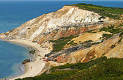 Vineyard Landscape Prints - Aquinnah Clay Cliffs Marthas Vineyard Print by Michelle Wiarda