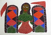 Gond Paintings - AR-05- deity by Jangarh Singh Shyam