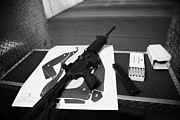 Practice Range Prints - Ar-15 Semi Automatic Rifle At A Gun Range In Florida Usa Print by Joe Fox