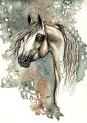 Horse Drawing Painting Prints - Arabian Horse  2013 11 18 Print by Angel  Tarantella