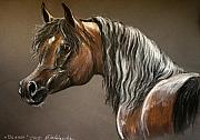 Arabian Pastels - Arabian mare by Angel  Tarantella