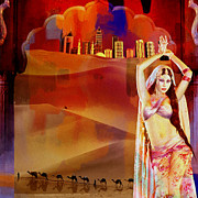 Dubai Paintings - Arabian Nights by Corporate Art Task Force