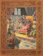 Illustrator Metal Prints - Arabian Nights H J Sandham Metal Print by Paul Ashby Antique Paintings
