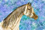 Digital Manipulation Drawings - Arabian sketch  Digital effect by Debbie Portwood
